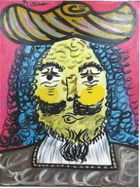 Mousquetaire IV - Pablo Picasso - Oil On Canvas In the