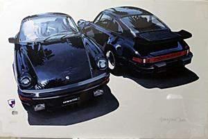 Lithograph Vintage Porsche 911 After Hamn James C