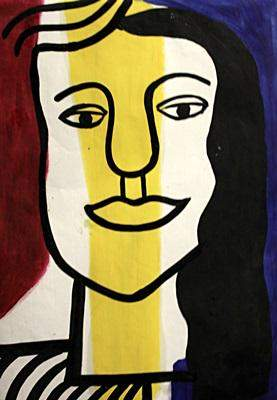 Fernand Leger In the style of Oil On Paper