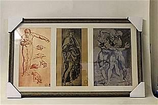 Framed 3in1 Robert Mapplethorpe Lithographs 174EEK