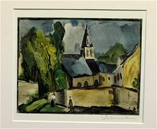 Church At Bougival After Maurice De Vlaminck