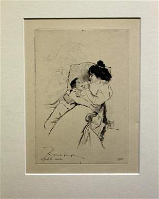 Petite Mere After Louis Legrand Drawing