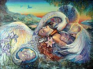 Giclee Leda And The Swan After Josephine Wall