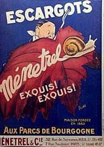 """Giclee """" Escargots Menetrel"""""""