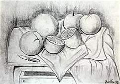 Drawing on Paper In the style of F. Botero