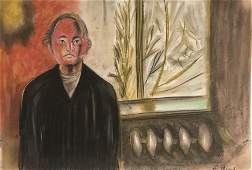 Self Portrait - in the style of Edvard Munch - Pastel