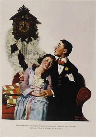 Norman Rockwell Married at Midnight