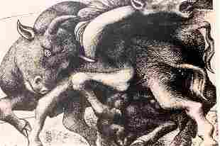 Minotaur Goring A Horse Pablo Picasso