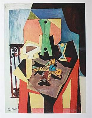 Still Life with Fish by Pablo Picasso
