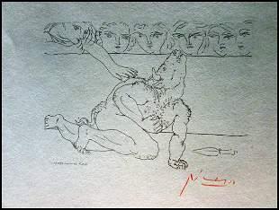 Pablo Picasso Minotauro Moribundo