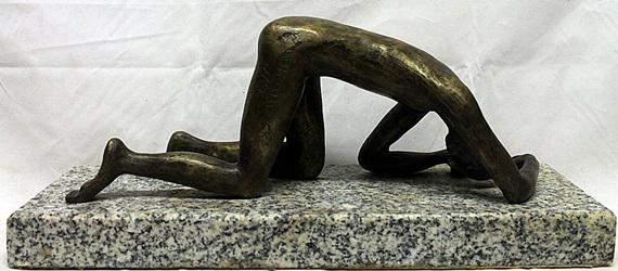 """Bronze """"Der Gesturzte""""  Wilhelm Lehmbruck"""