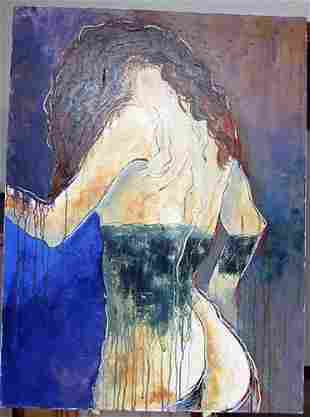 Original Signed Gaylord Soli Woman in Corset