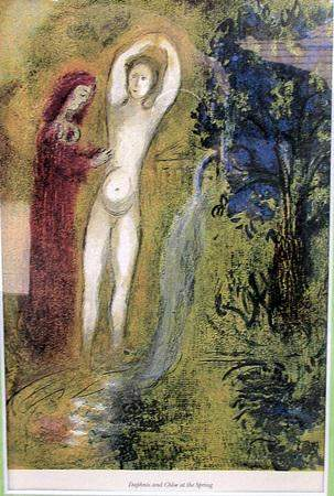 Daphnis and Chloe at the Spring Marc Chagall