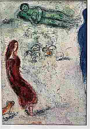 Chloes Judgement Marc Chagall Lithograph