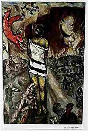 Le Martyr 1940 Marc Chagall Lithograph