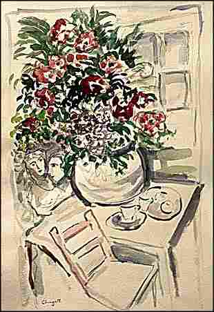 In the syle of Marc Chagall Lithograph 2