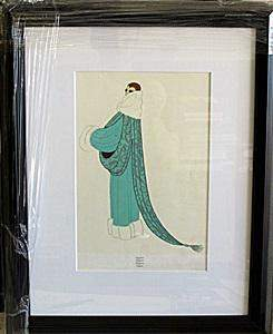 Framed Lithograph Elegance In the style of Erte