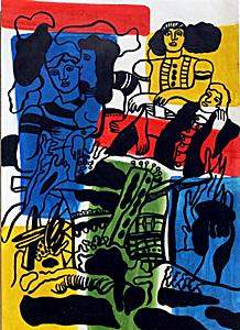 The Love 1930 In the style of Fernand Leger