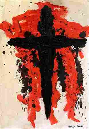 Cross Arnulf Rainer in the style of Oil On Paper