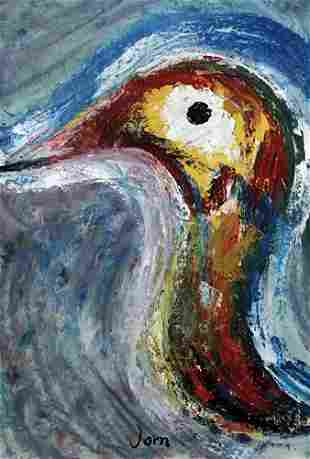 Bird Asger Jorn In the style of Oil On Paper