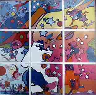 The Profile Peter Max Lithograph