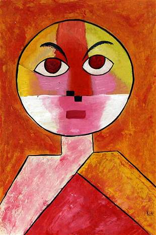 Oil on Paper In the style of Paul Klee
