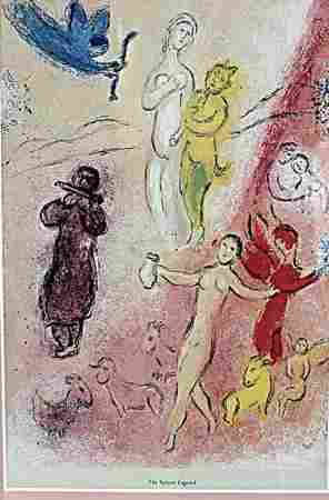 The Syrinx Legend Marc Chagall Lithograph