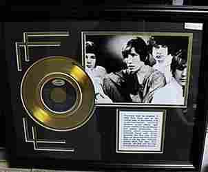 Black White Pink Floyd Giclee Gold Album AR5702