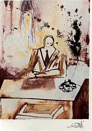 The Businessman Salvador Dali Lithograph