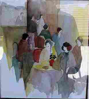 Women Talk Itzchak Tarkay Lithograph