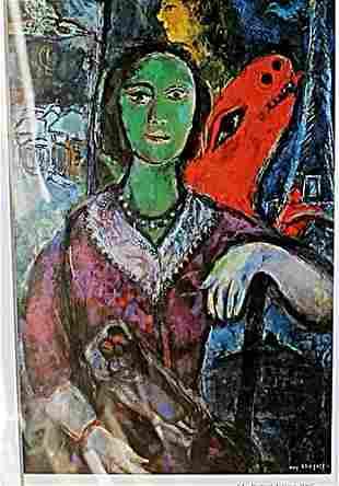 Portrait de Vana 1966 Marc Chagall Lithograph