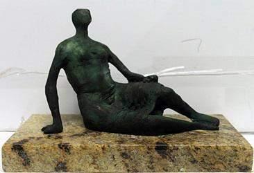 Patina Bronze Sculpture   Henry Moore