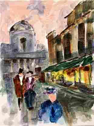 Paris Scene 27 Michael Schofield Original Painting