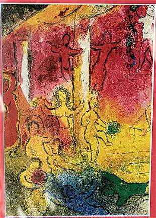 Temple and History of Bacchus Marc Chagall