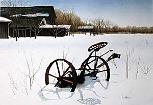 Lithograph Snow Shadows Helen Rundell