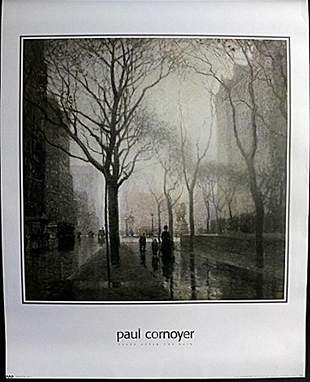 Fine Art Print Plaza after the rain by Paul Cornyer