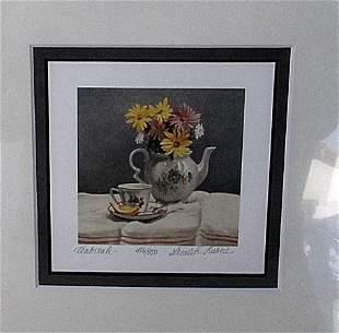 Tea Break Gerald Lubeck Lithograph