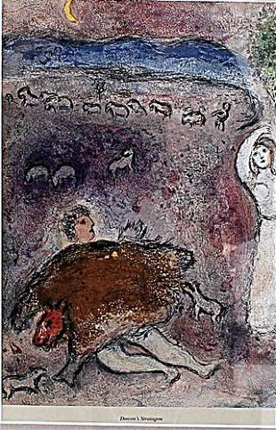 Dorcons Stratagem Marc Chagall Lithograph