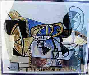 Homage to the Spainards Pablo Picasso Lithograph