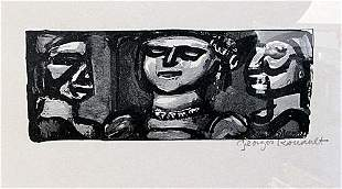 Georges Rouault Signed Lithograph 186U