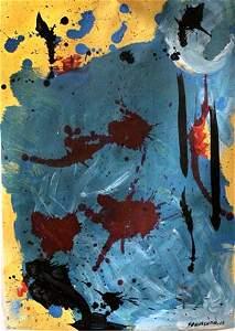 Helen Frankenthaler in the style of - Oil On Paper