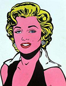 Marilyn Monroe Oil on Paper in the style of R