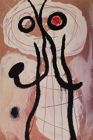 Joan Miro Personnage 1960