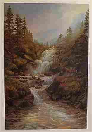 The Waterfall By Elizabeth Halstead