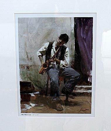 The Musician - Pino - Lithograph