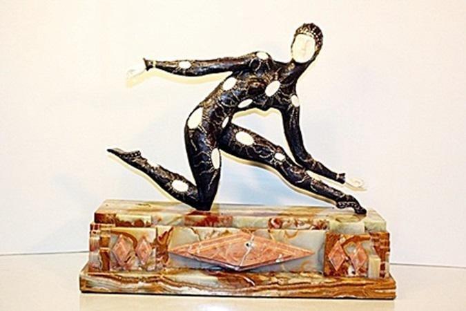 Leotard Dancer - Bronze   Sculpture - Chiparus