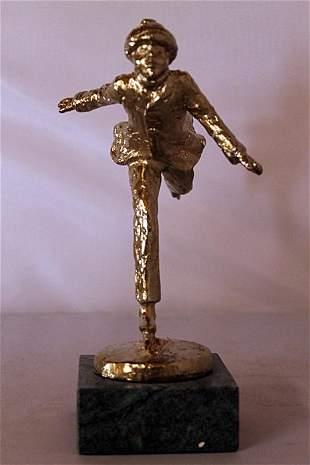 Skater Gold over Bronze Sculpture after Dennis