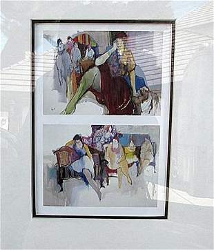2 in 1 Itzchak Tarkay Lithograph