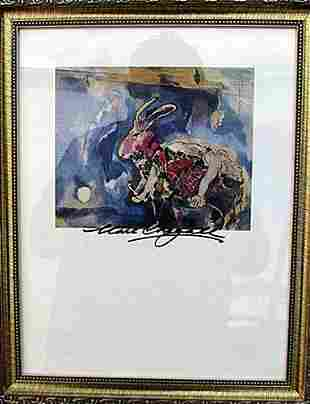 The Dream Marc Chagall Lithograph
