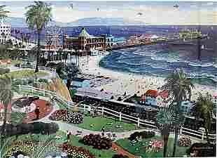 Santa Monica Alexander Chen Lithograph
